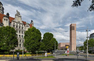 Leipzig Propsteikirche und Stadtbild